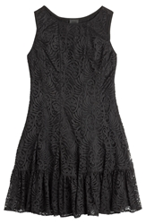 Anna Sui Stretch Dress With Lace Overlay