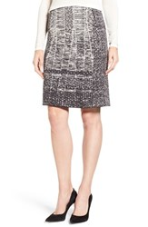 Nic Zoe Women's Brocade Tapestry Jacquard Knit Skirt
