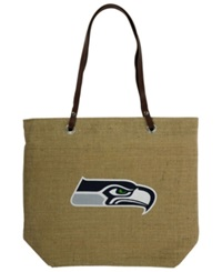 Little Earth Seattle Seahawks Burlap Tote Brown