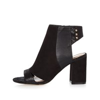 River Island Womens Black Panel Wide Fit Shoe Boots