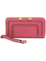 Chloe 'Marcie' Long Zipped Wallet Pink Purple