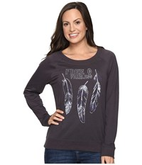 Cruel Long Sleeve Raglan Pullover Charcoal Women's Long Sleeve Pullover Gray