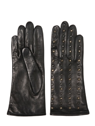 Mario Portolano Micro Studded Nappa Leather Gloves Black