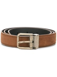 Dolce And Gabbana Classic Belt Brown