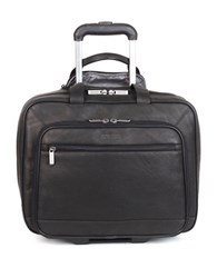 Kenneth Cole Reaction Colombian Leather Double Gusset Top Messenger Bag Black