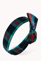 Forever 21 Prairie Plaid Wire Headwrap
