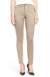 Nydj Women's Ami Colored Stretch Super Skinny Jeans Vintage Taupe