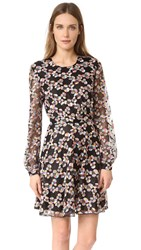 Just Cavalli Long Sleeve Lace Dress Multicolor