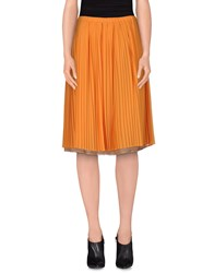 Alysi Skirts Knee Length Skirts Women Orange