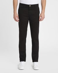 M.Studio Black Noa Ii Fitted Cotton Chinos