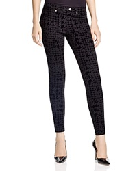 Hue Flocked Houndstooth Super Smooth Denim Leggings