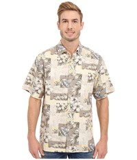 Tommy Bahama Plumeria Patchwork Tortola Silk Camp Shirt Continental Men's Clothing White