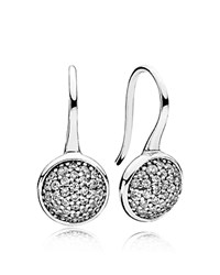 Pandora Design Earrings Sterling Silver And Cubic Zirconia Dazzling Drop