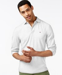Tommy Hilfiger Men's Long Sleeve Classic Fit Polo Classic White