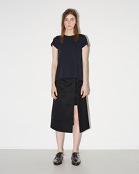 Sacai Cotton Gabardine Skirt Black