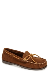 Minnetonka Suede Camp Moccasin Dusty Brown