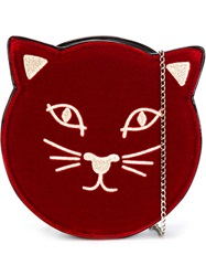 Charlotte Olympia 'Pussy Cat' Shoulder Bag Red