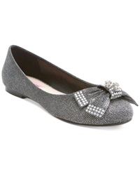 Betsey Johnson Emy Bow Flats Women's Shoes Black