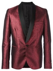 Christian Pellizzari Shawl Lapel Smoking Jacket Red