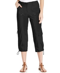 Styleandco. Style And Co. Cargo Capri Pants Deep Black