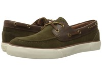 Polo Ralph Lauren Rylander Deep Olive Tan Sport Suede Smooth Oil Leather Men's Shoes