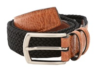 Torino Leather Co. 32Mm Italian Woven Multi Cotton Elastic Black Men's Belts