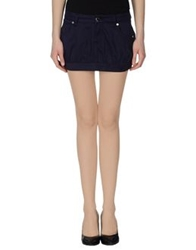 Maison Espin Mini Skirts Dark Blue