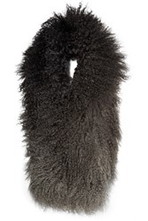 Karl Donoghue Degrade Shearling Scarf Anthracite