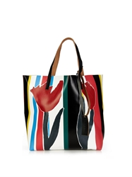 Marni Printed Pvc And Leather Tote