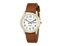 Timex Easy Reader Brown Leather Watch T20011 Gold Silver Watches