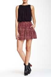 Lucky Brand Printed Mini Skirt Red