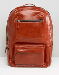 Royal Republiq Leather Track Backpack In Brown Brown