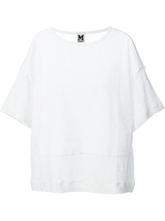 M Missoni Anglaise Broderie Panel T Shirt White
