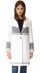 Club Monaco Keliee Coat Pure White Light Heather Grey