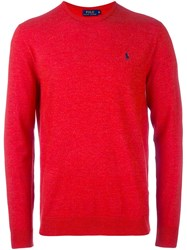 Polo Ralph Lauren Crew Neck Jumper Yellow And Orange