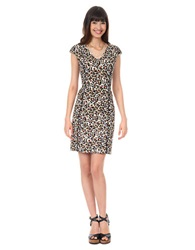 Kay Unger Piped Animal Print Dress