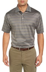 Bobby Jones Men's Birdie Jacquard Stripe Polo Safari