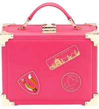Aspinal Of London X Yang Mi Leather Trunk Clutch Pink