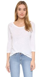 James Perse Classic Top White