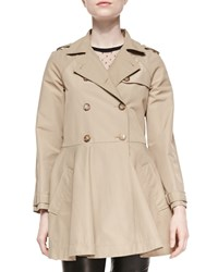 Red Valentino Double Breasted A Line Skirt Trench Coat Women's