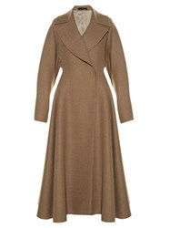 The Row Laug Oversized Lapel A Line Coat Tan