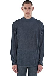Kolor Roll Neck Tactile Knit Sweater Grey