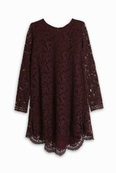Adam By Adam Lippes Lace High Low Tunic Maroon