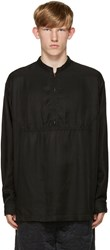 Robert Geller Black Zip Shirt