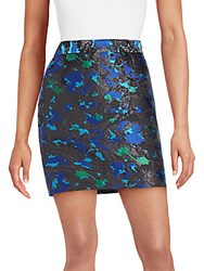 Proenza Schouler Feather Jacquard Mini Skirt Black Multi