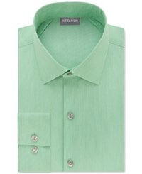 Kenneth Cole Reaction Techni Stretch Slim Fit Solid Dress Shirt Green