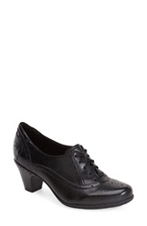 Cobb Hill 'Shayla' Lace Up Pump Women Black Leather