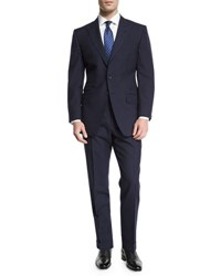 Tom Ford O'connor Base Peak Lapel Pinstripe Two Piece Suit Navy