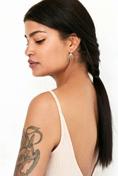 Urban Outfitters Brass Geo Front Back Earring