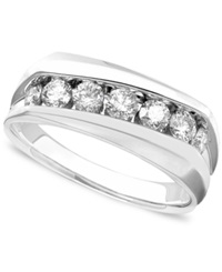 Macy's Men's 14K White Gold Ring Diamond Band 1 Ct. T.W.